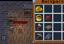 smelt ore in forge